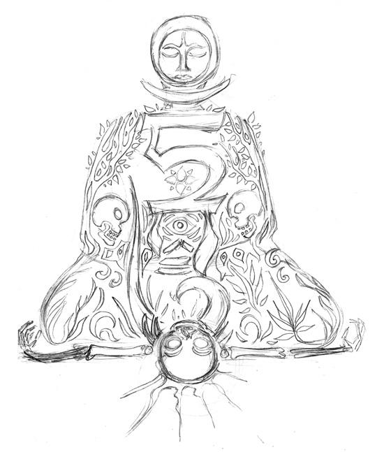 Linocut sketch by Andrei Verner