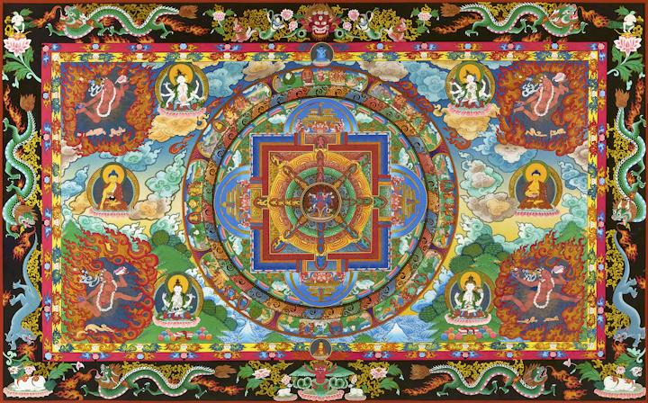 Chakra samvara - Traditional Tibetan Thangka by Romio Shrestha