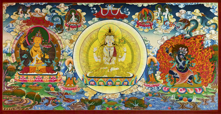 Compassion - Traditional Tibetan Thangka by Romio Shrestha