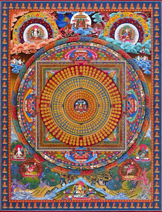 Enlightenment - Traditional Tibetan Thangka by Romio Shrestha