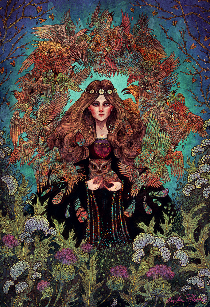 Augury fantasy illustration by Angela Rizza