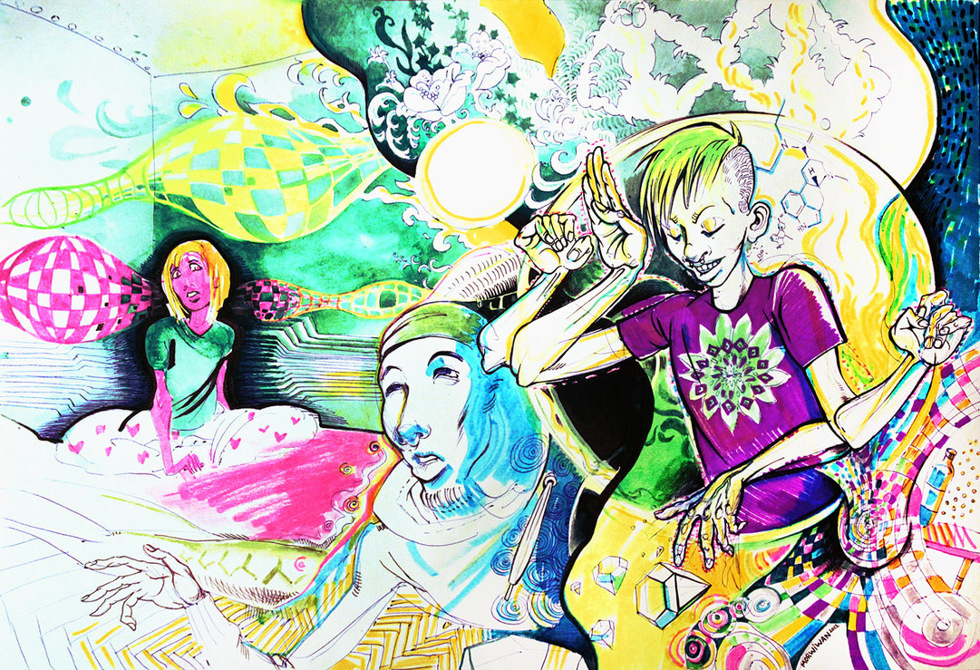 Delisyd traditional psychedelic drawing by Limbic Splitter