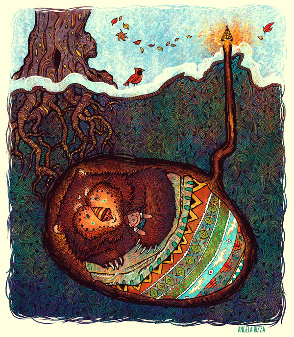 Hibernate fantasy illustration by Angela Rizza