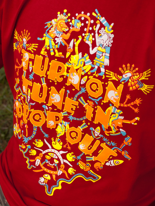 Turn On Tune In Drop Out psychedelic t-shirt by Andrei Verner