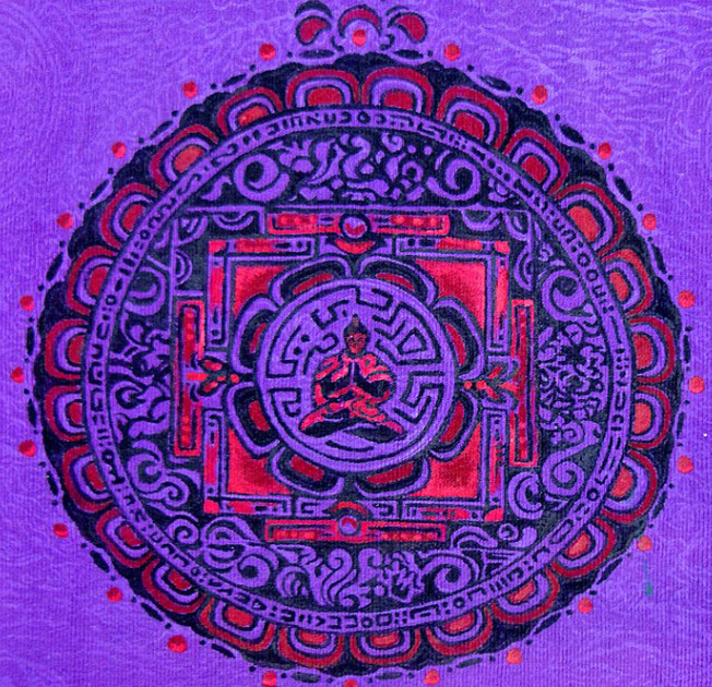 Mandala Buddha art by SmileBuddha