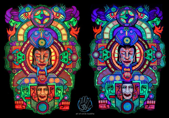 Maya psychedelic painting by SmileBuddha