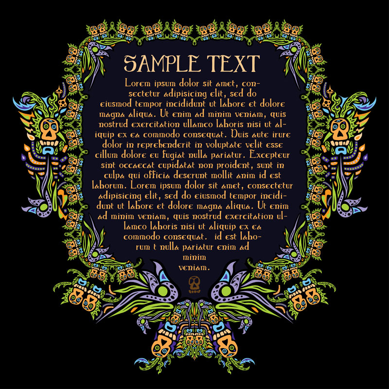Free vector psychedelic ornament. Бесплатный психоделический орнамент в векторном формате.