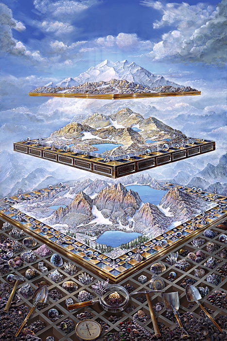 Games Chance - visionary painting by John Stephens