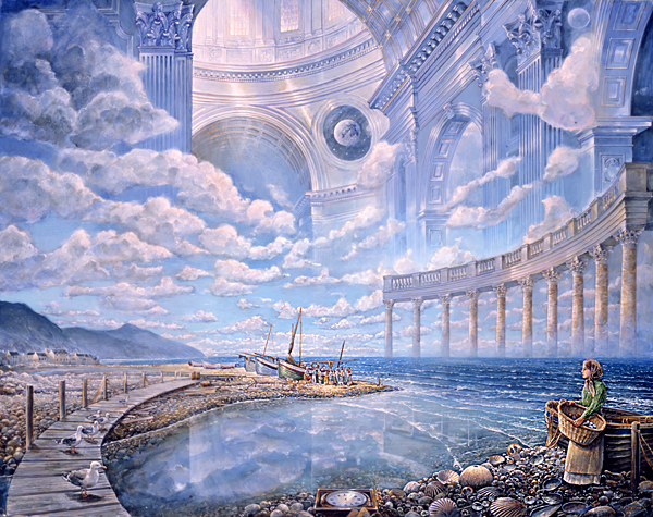 Mollys vision - visionary painting by John Stephens