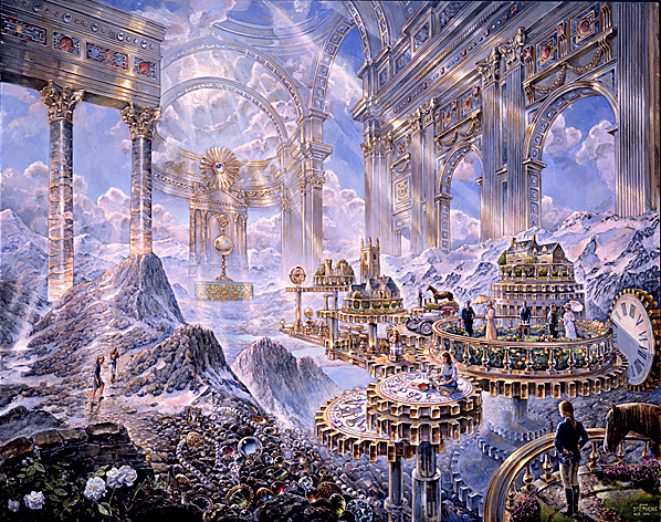 Time - visionary painting by John Stephens
