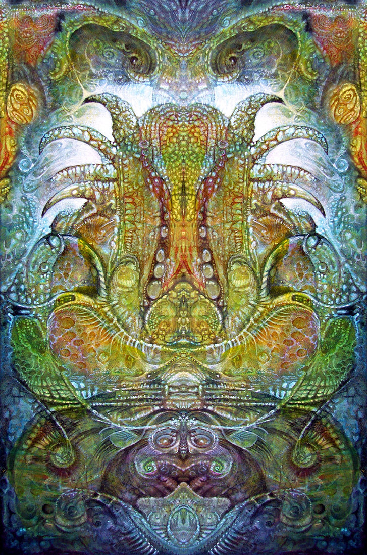 FOMORII THRONE - visionary painting by Otto Rapp