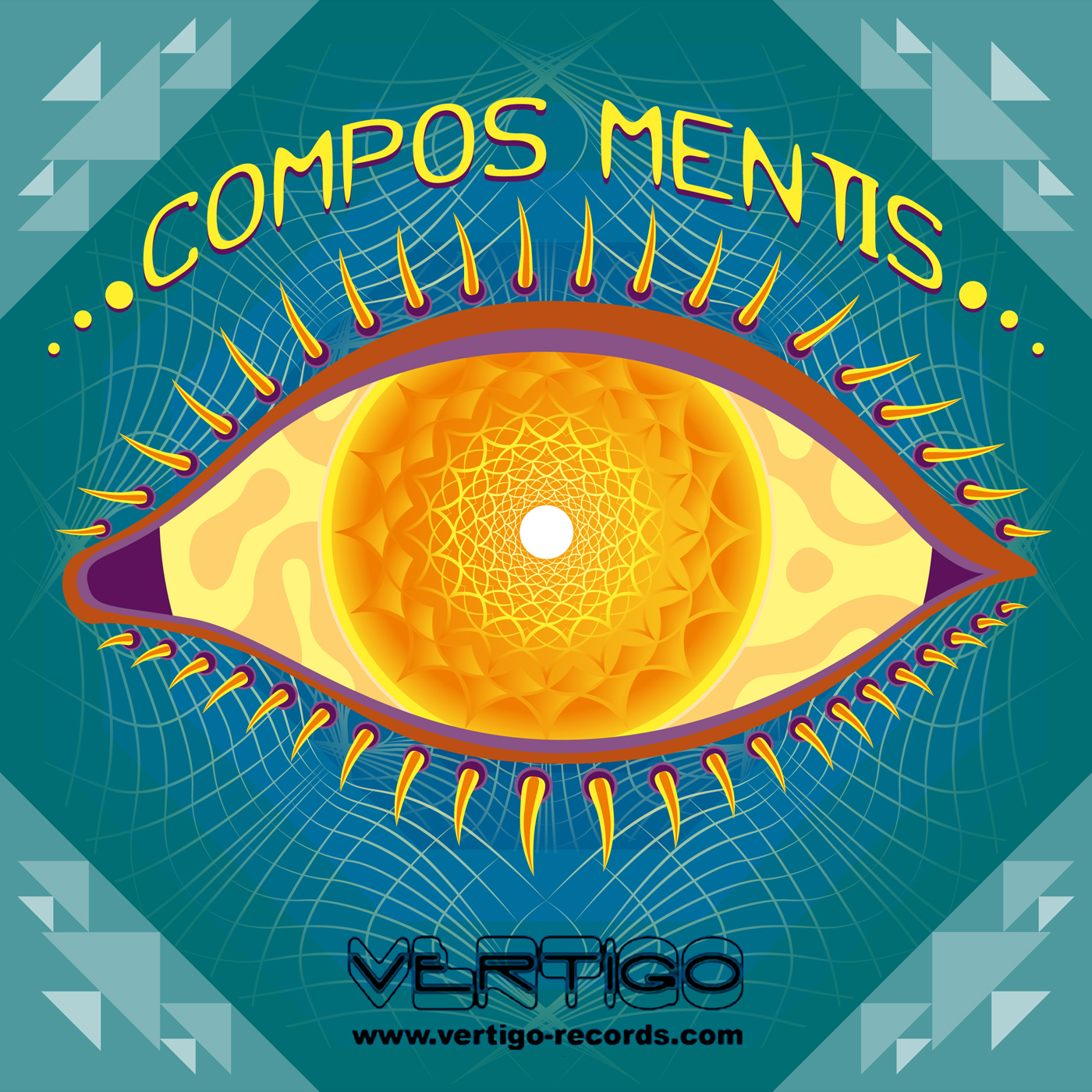Compos Mentis psychedelic trance album cover art by Andrei Verner