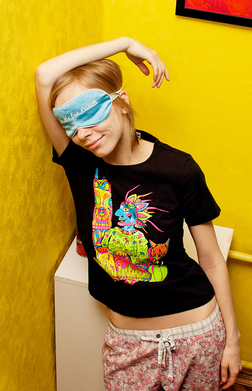 Unsane Indian - psychedelic t-shirt by Andrei Verner