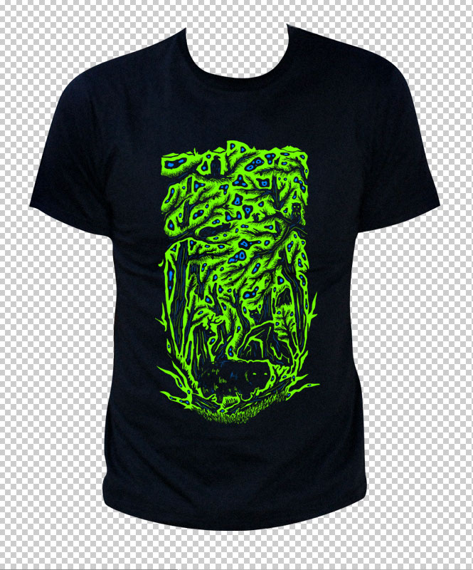 Trip to Yosemite - psychedelic t-shirt by Andrei Verner
