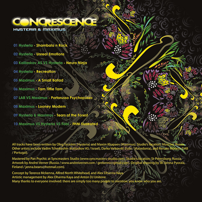 CONCRESCENCE booklet outside by Andrei Verner