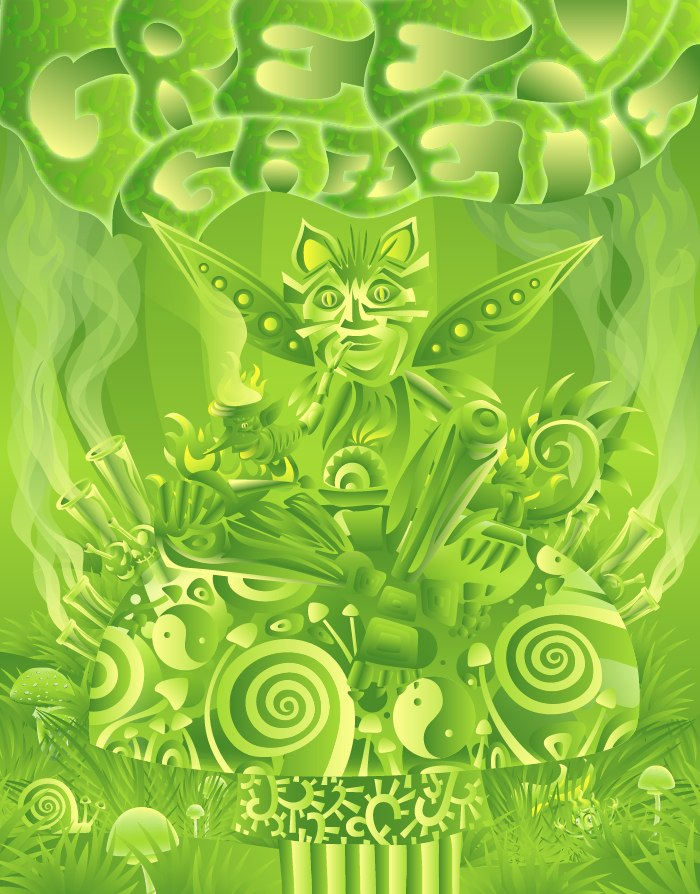 Green Gazette magazine cover