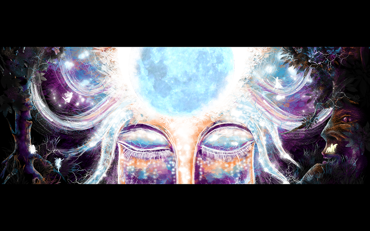 Full Moon - free psychedelic wallpaper by Andrei Verner