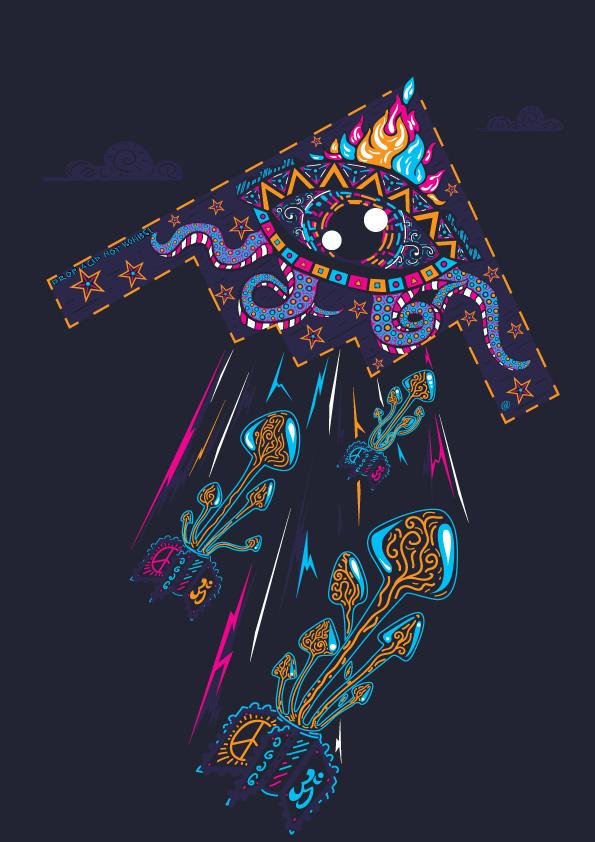 Drop Acid Not Bombs t-shirt design by Andrei Verner