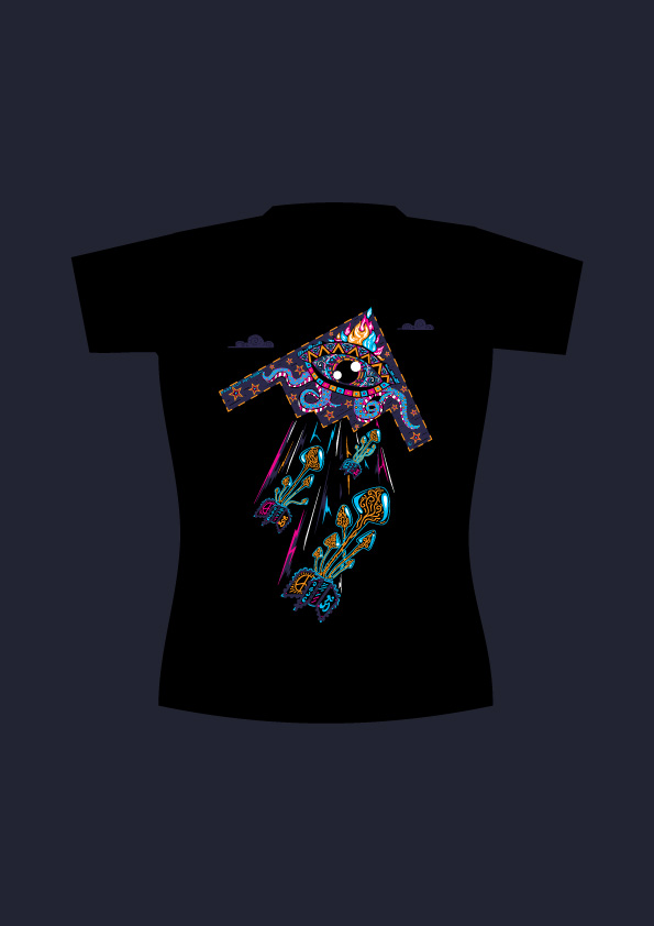 Drop Acid Not Bombs lady's t-shirt design by Andrei Verner