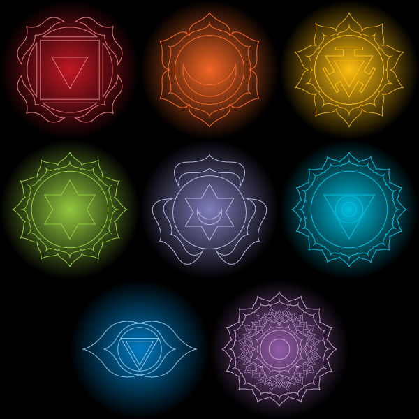 Free vector chakras art stock by Andrei Verner