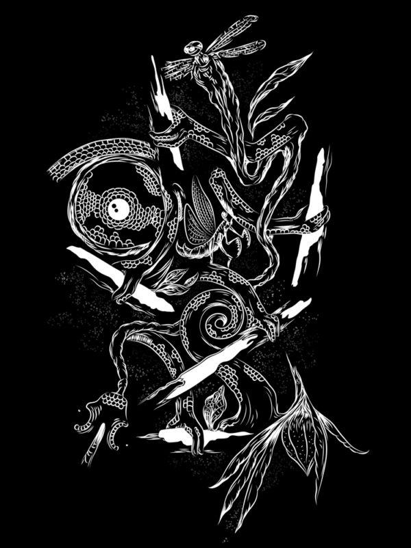 Chameleon drawing digital doodle