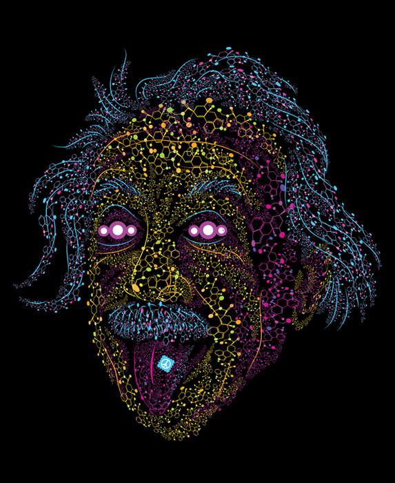 Acid scientist psychedelic illustration by Andrei Verner