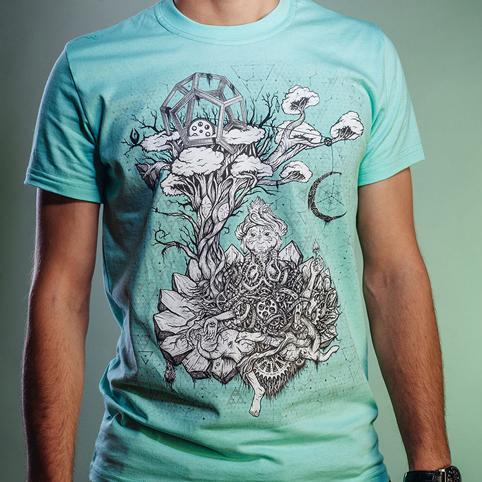 Psychedelic t-shirt by Ahankara Art