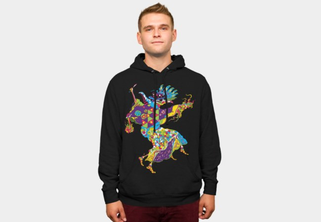 Psychedelic Plague Doctor hoodie by Andrei Verner