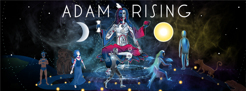 Adam Rising New Year Party psychedelic Facebook cover by Andrei Verner