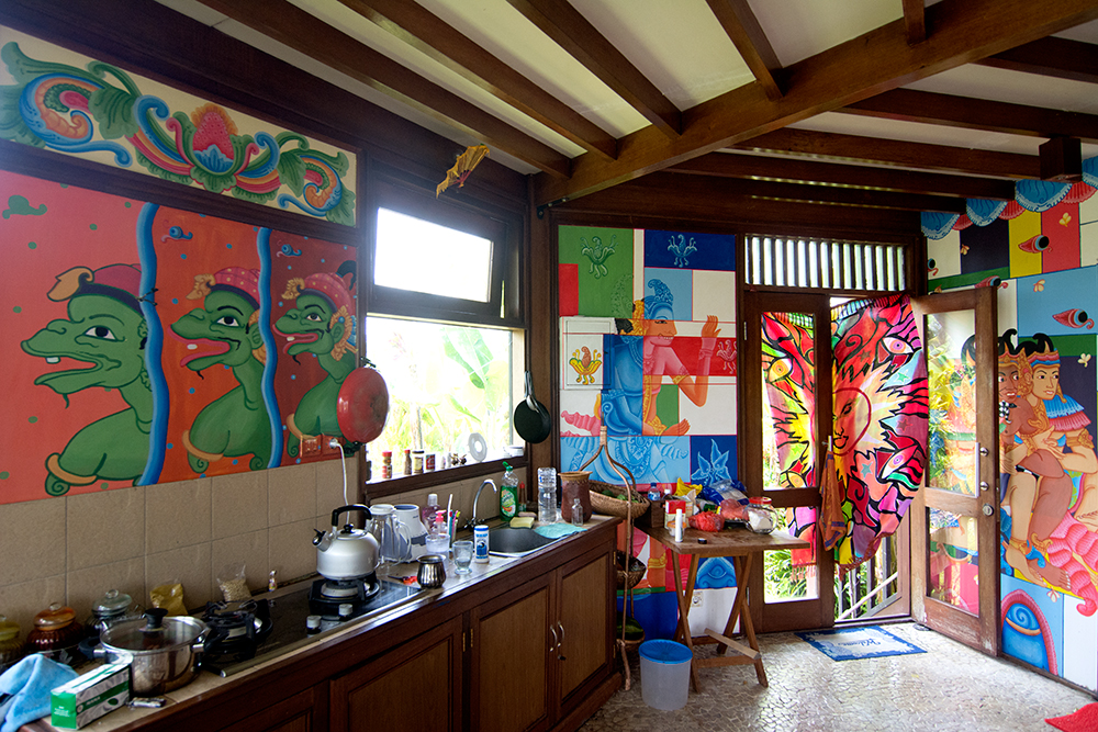 Kitchen in our house on Bali