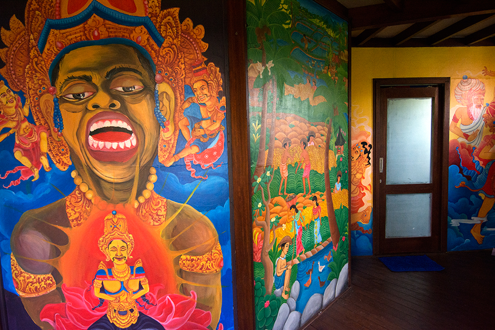 Wall paintings in our house on Bali