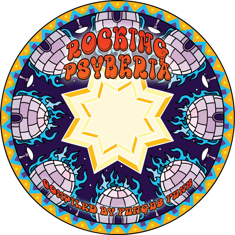 Rocking Psyberia psychedelic trance album CD art by Andrei Verner