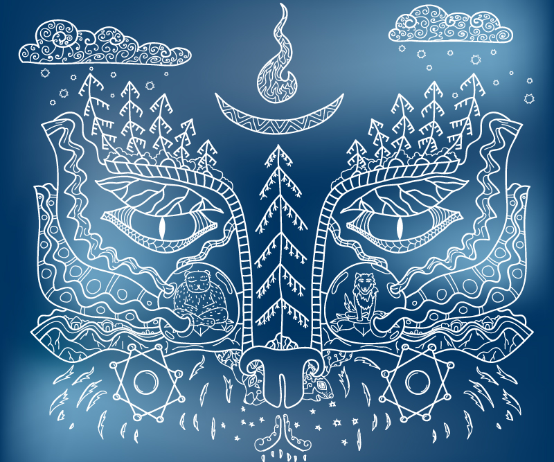 Rocking Psyberia psychedelic trance album CD package art by Andrei Verner