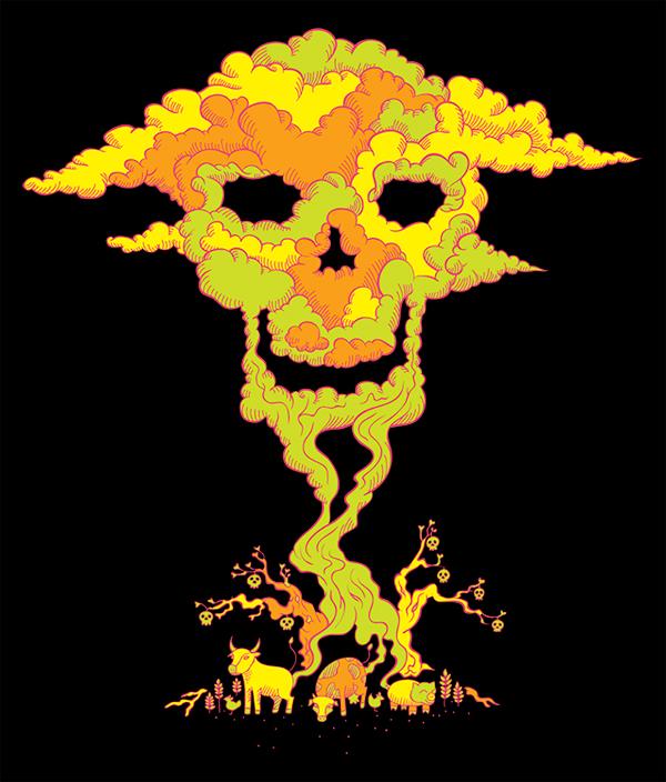 Fatal Fart vegan t-shirt design by Andrei Verner