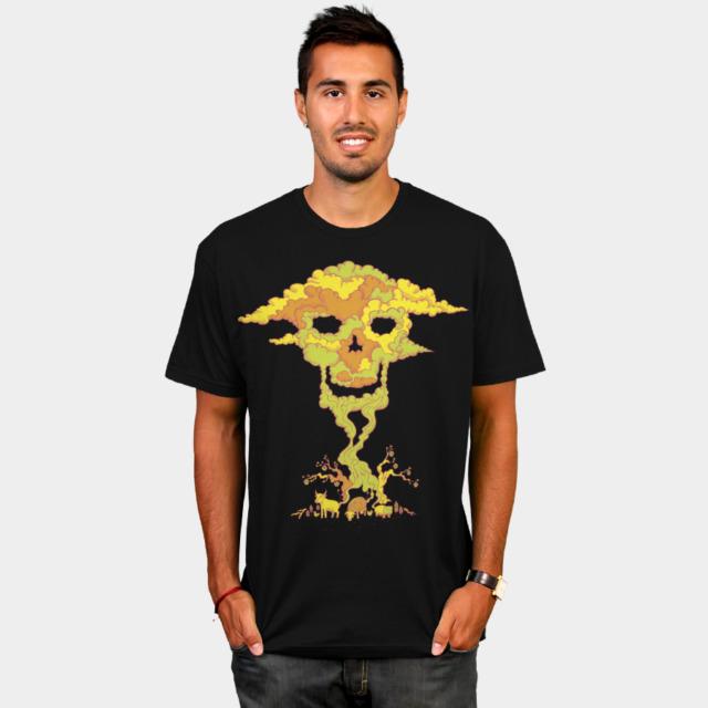 Fatal Fart vegan man's t-shirt design by Andrei Verner