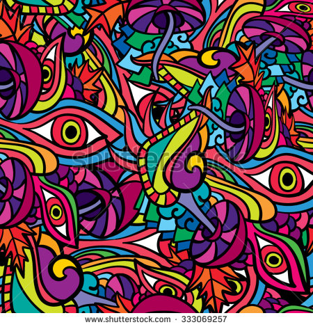Psychedelic trippy vector pattern by Andrei Verner