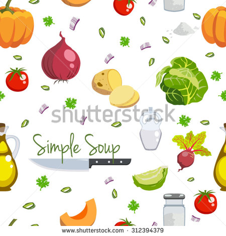 Veggies vector pattern by Andrei Verner