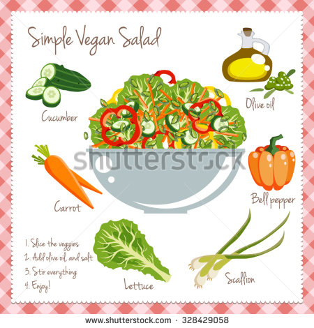 Veggies recipe vector illustration by Andrei Verner