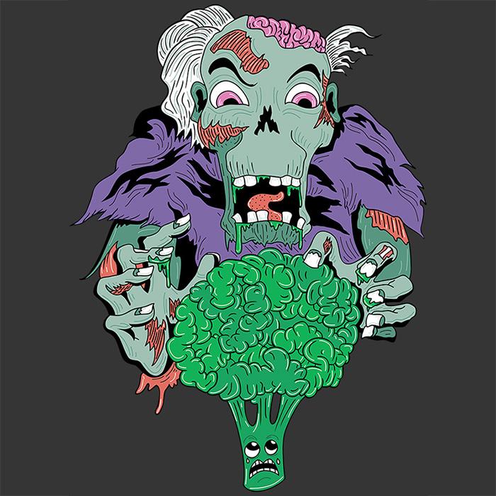 Zombie Vegan - Vegan t-shirt design by Andrei Verner