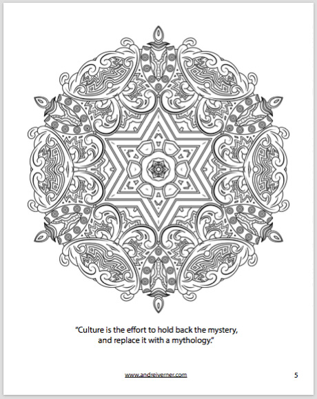 Psychedelic Ornaments Colouring Book 1 by Andrei Verner
