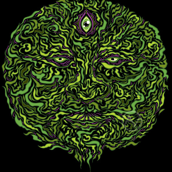 Wise Green Puer Psychedelic T-shirt