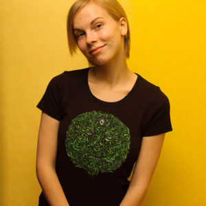 Wise Green Puer Tea Psychedelic T-shirt