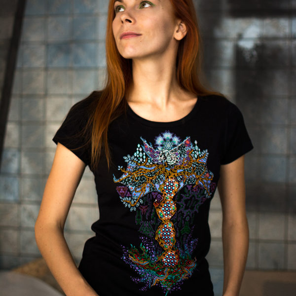 Yggdrasil the Tree of Life - Psychedelic Fluorescent T-shirt