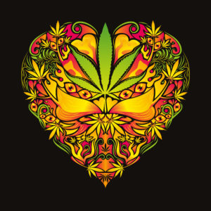 Marijuana Love Psychedelic Man's T-shirt