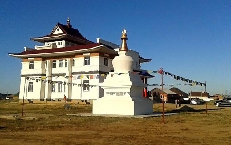 Buddhist Temple and stupa in Troitskoe, Kalmykia near Elista