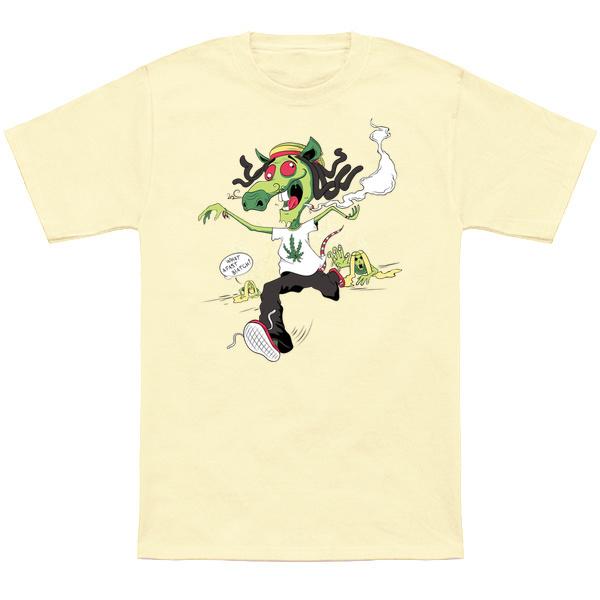 Rastaman Mousey tale T-shirt design - t-shirt mockup