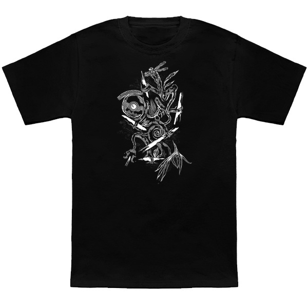 Chameleon drawing digital doodle T-shirt