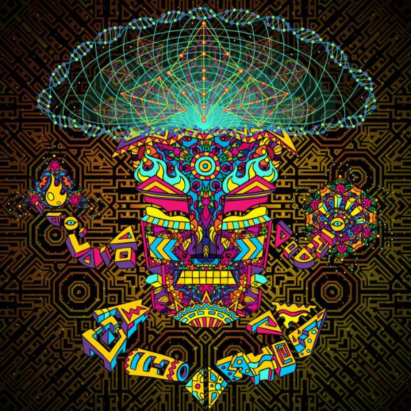 Magic Mushroom God Psychedelic Design