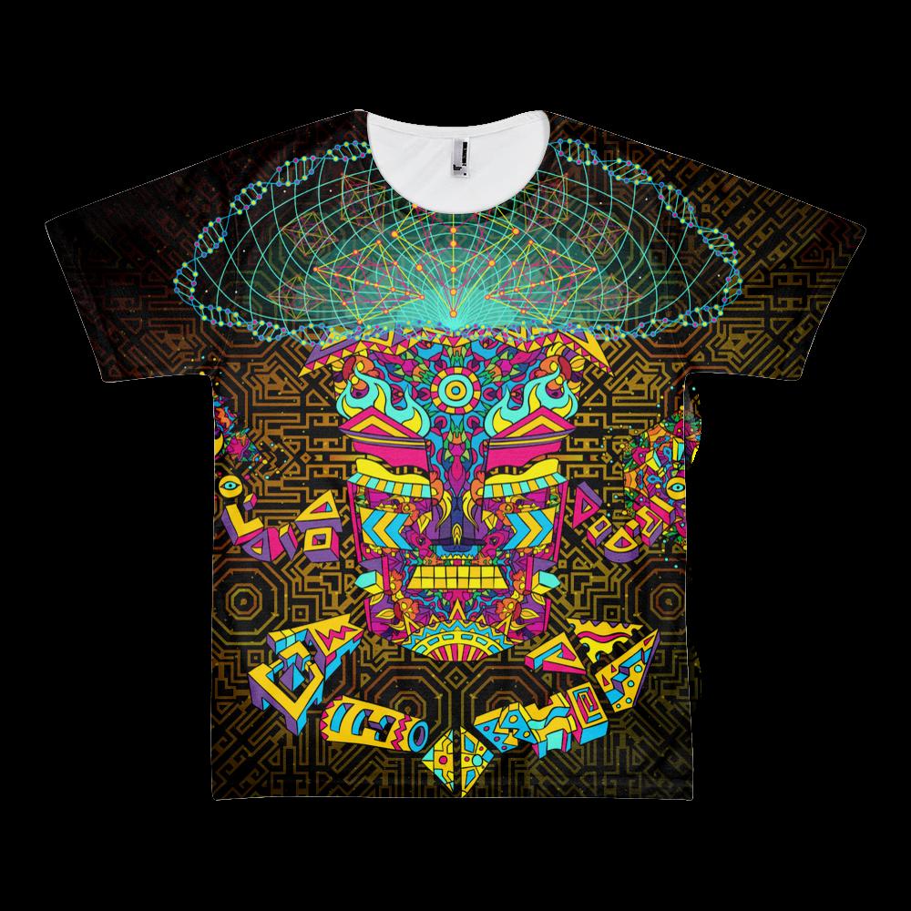 Magic Mushroom God character All-Over-Print T-shirt
