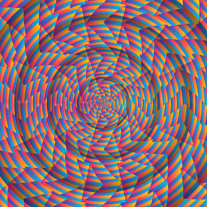 Trippy Swirl Psychedelic Fluorescent UV-reactive Backdrop